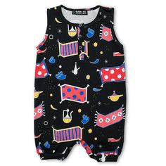 2e516b7b563 Piccalilly Submarine Dungarees - these soft jersey submarine print  dungarees are designed with active baby and