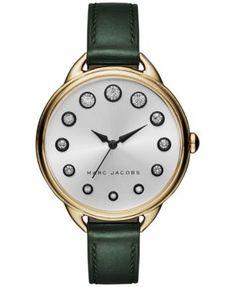 Marc Jacobs Women's Betty Dark Green Leather Strap Watch 36mm MJ1477   macys.com