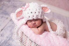 Sombrero de niña bebé foto recién nacido Prop por Beansknots