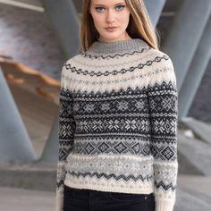 """Stellar"" jumper med rundfelling S-XXL Fair Isles, Jumpers, Knitwear, Girl Fashion, Turtle Neck, Knitting, Pattern, Sweaters, Design"