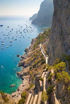 Via Krupp Capri Amalfi Coast Italy