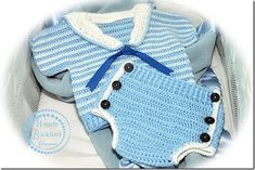 Thursday Handmade Love Week 67 Theme: Sailor Includes links to #free #crochet patterns  Crochet Pattern for Diaper Cover Soaker and Shirt Top, PDF12-110 INSTANT DOWNLOAD via Etsy