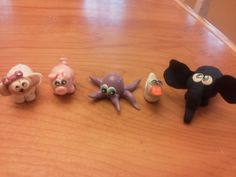 my first clay critters