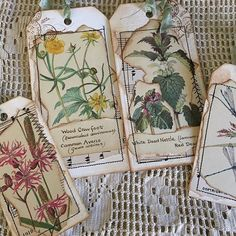 Nature junk journal tags added to my shop #handmadegifts #junkjournals #handmadejournal #junkjournal#junkjournaling #junkjournaljunkies