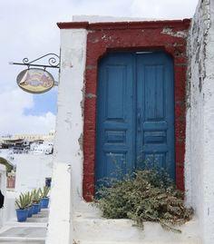Santorini's cliffside neighborhood, Firostefani. (From: A Greek Island Vacation You Can Afford)