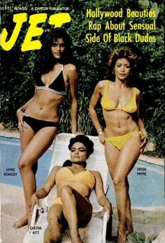 Freda Payne, Eartha Kitt, and Jayne Kennedy on the cover of Jet magazine, July 1974.