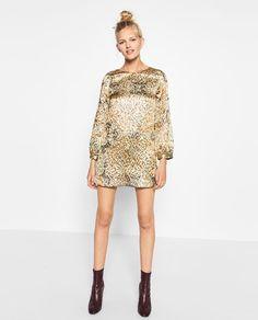 Image 2 of SHIMMER JACQUARD DRESS from Zara