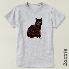 Shop Black Cat T-Shirt created by MOLLYCAT_Designs. Artist Life, Cat Shirts, Shirt Style, Your Style, Shirt Designs, T Shirts For Women, Friends, Mens Tops, Black