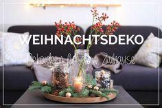 Weihnachtsdeko  - unterschiedliche Gläser füllen und mit Zweigen dekorieren! // Christmas Dekoration Jars