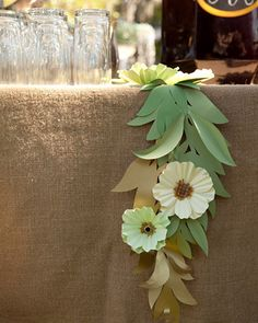 Paper Flower Garland by theleadchandelier, via Flickr