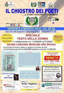 SANGUINETTO CHANNEL: IL CHIOSTRO DEI POETI - Speciale Festa della Donna...