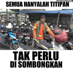 Semua hanyalah titipan #GambarLucu Funny Text Messages, Words Quotes, Funny Texts, Dankest Memes, Religion, Funny Pictures, Inspirational Quotes, Lol, Humor