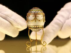 Miniature Faberge egg from the collection of King Georges I of the Hellenes.