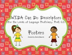 These printable posters work well for posting standards in a multi-grade ESOL classroom. The posters are the overarching CAN DO descriptors. They are easy to read and breeze to print.