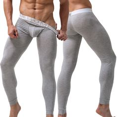 ebc2b1bc691af4 Hot-sale Long Johns Mens Modal Thermal High Elasticity Butt Lifting U Convex  Pouch Breathable Heated Sleepwear Long John Online - NewChic Mobile