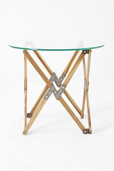 Love the table but not very baby proof Truss Side Table #anthropologie