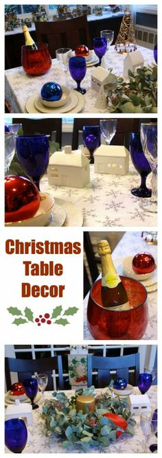 Christmas table decorations #pfdecorates