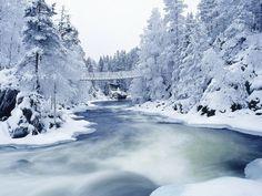 This is a winter wonderland in Finland!