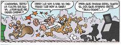 """Francisco Ibáñez: Viñeta de """"El Golpe"""", historieta incluida en el álbum """"Ceporros en Pleno Idilio"""" (Olé Ediciones B) y en el Super-Humor nº 23 (1º Edición 1995 - 6º Edición 2004)."""