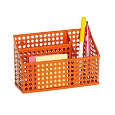 The Container Store > Circuit Magnetic Divided Bin 9.99. for a school locker