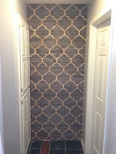 Moorish Wood Wall - after Small Space Interior Design, Interior Design Living Room, Glass Design, Door Design, Cnc Wood, Plywood, D House, Focal Wall, Woodworking Bed