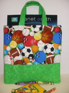 Sports Fan Crayon Tote by NotWithoutAnnette on Etsy, $17.00