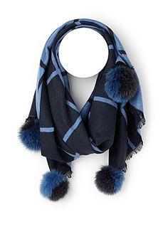 Rehaussez vos manteaux avec style grâce à ce foulard au motif graphique coloré…