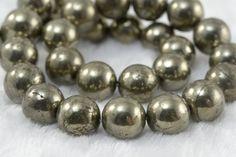 pyrite,12mm round bead, bronze,stone bead,natural, gemstone, jewelry making, loose bead,stone, diy,loose gemstone, ironstone, gem, precious,