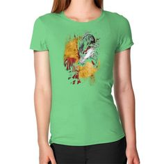 Red and wolf Women's T-Shirt