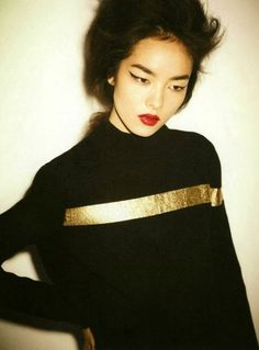 Fei Fei Sun for Self Service Issue 39 by Ezra Petronio - the golden line; gold, color
