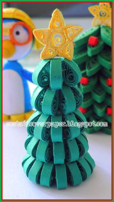 Quilled 3D Christmas Tree