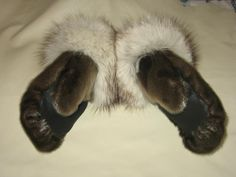 Sealskin mitts via John Lemay Sell Items, Nova Scotia, Winter Wear, Furs, Leather Working, North West, Beadwork, Alaska, Handmade Items
