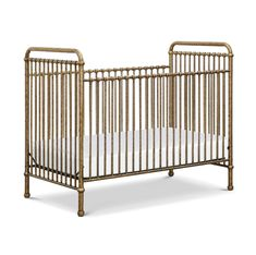 A modern take on antique wrought iron cribs, the Babyletto Jubilee Convertible Crib is styled with sleek lines, curved edges and smooth steel tube spindles. The pink chrome color makes it a glamorous centerpiece in your baby's nursery. Iron Crib, Portable Crib, Convertible Crib, Crib Mattress, Baby Furniture, Furniture Decor, Baby Grows, All Modern, Child Room