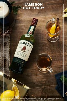 There's a reason this recipe is a classic! When the cold weather comes, nothing warms your hands like a Jameson Hot Toddy. Just three ingredients, this simple recipe is one worth saving. Christmas Drinks Alcohol, Holiday Drinks, Fun Drinks, Yummy Drinks, Beverages, Whiskey Recipes, Alcohol Drink Recipes, Easy Healthy Recipes, Cocktail Recipes