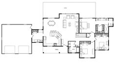 Open Concept Floor Plans   Maple Creek - Log Homes, Cabins and Log Home Floor Plans - Wisconsin ...