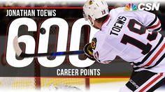 Jonathan Toews hits 600 career points (2/18/17) Blackhawks Hockey, Chicago Blackhawks, Nhl Chicago, Stanley Cup Champions, Jonathan Toews, Team Usa, Hockey Players, Career, Goals
