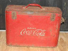 Vintage Coca Cola airline cooler unrestored Coke Very Cool!