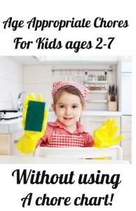 Age appropriate chore list for young kids (they can clean/organize with just a little guidance)
