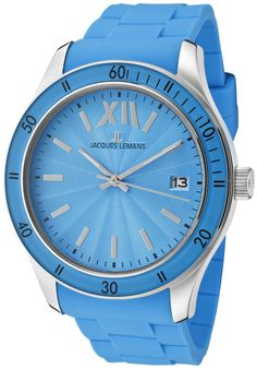 Price:$48.61 #watches JACQUES LEMANS 1622L, With a bold, masculine design, Jacques Lemans has a poised and calm ambience that's sure to have you looking twice. Le Mans, Calm, Watches, Blue, Accessories, Design, Clocks, Clock, Design Comics