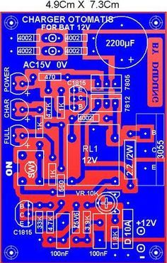 PCB Automatic battery charger circuit