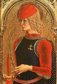 Galeazzo Maria Sforza  Galeazzo Maria Sforza as St. George with the most important symbols of his dynasty, the cross and the dragon-like snake (on the left side of his chest)