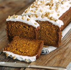 Copycat Starbucks Gingerbread Loaf with Cream Cheese Frosting tastes even better at home! And you can make the whole loaf for pennies on the dollar!