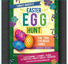 Easter Flyer Template  Party Flyer Templates For Clubs Business
