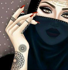 Beautiful Girl Drawing, Cute Girl Drawing, Cute Girl Poses, Cute Girls, Arabian Beauty Women, Sarra Art, Girly M, Cute Panda Wallpaper, Mother Art