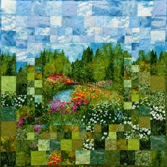 Quilt Inspiration: Monet's Garden: Impressionism and Quilting