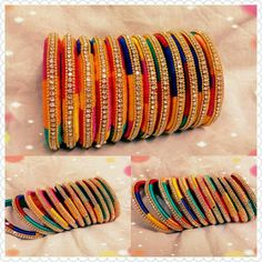 Silk thread bangle designs - Latest Jewellery Design for Women Silk Thread Bangles Design, Silk Thread Necklace, Silk Bangles, Beaded Necklace Patterns, Bridal Bangles, Thread Jewellery, Jewelry Patterns, Fabric Jewelry, Handmade Jewellery