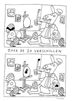 Onderwijs en zo voort ........: 4766. Paasstarter : Zoek de tien verschillen (2) Educational Games For Kids, Kids Learning Activities, Preschool Worksheets, Preschool Activities, Hidden Pictures, Pre Writing, Activity Sheets, Inspiration For Kids, Early Childhood Education
