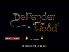 Defender Of The Wood App by Daragh Robert Wickham. Retro Fighting Game App.