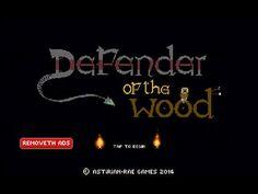 Defender Of The Wood App by Daragh Robert Wickham. Retro Fighting Game App.