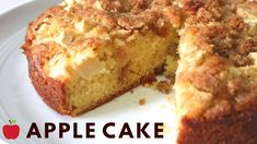 Today I am sharing a delicious and easy Apple Cake made from scratch. This soft and moist Apple Cake is packed with fresh apples and features a crunchy cinna. Moist Apple Cake, Easy Apple Cake, Apple Cake Recipes, Apple Desserts, Baking Recipes, Dessert Recipes, Apple Pie, Keto Recipes, Cinnamon Crumble